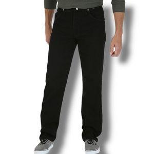 Wrangler Vintage Regular Fit Jeans Black Denim 42